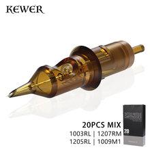 Kewer 20 шт картридж игл для татуажа rl m1 035 мм 030 нержавеющая