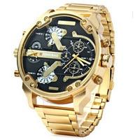 Shiweibao aço relógio masculino legal grande dial duplo relógio de quartzo à prova dwaterproof água|  -