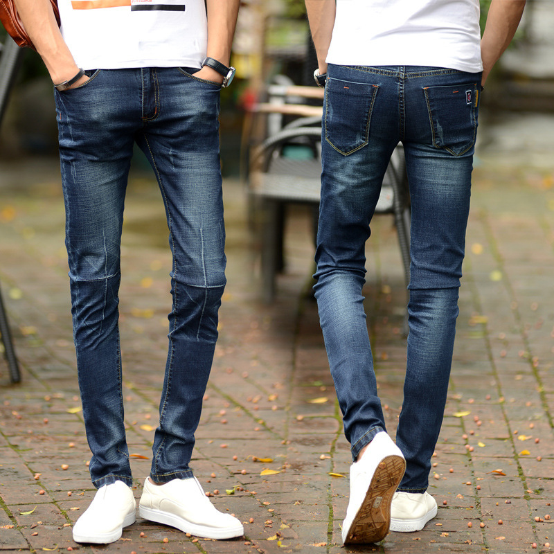 2016 Spring And Autumn New Style Men Elasticity Skinny Glamourous Men'S Wear Jeans MEN'S Trousers Korean-style Trend Slim Fit-Ho