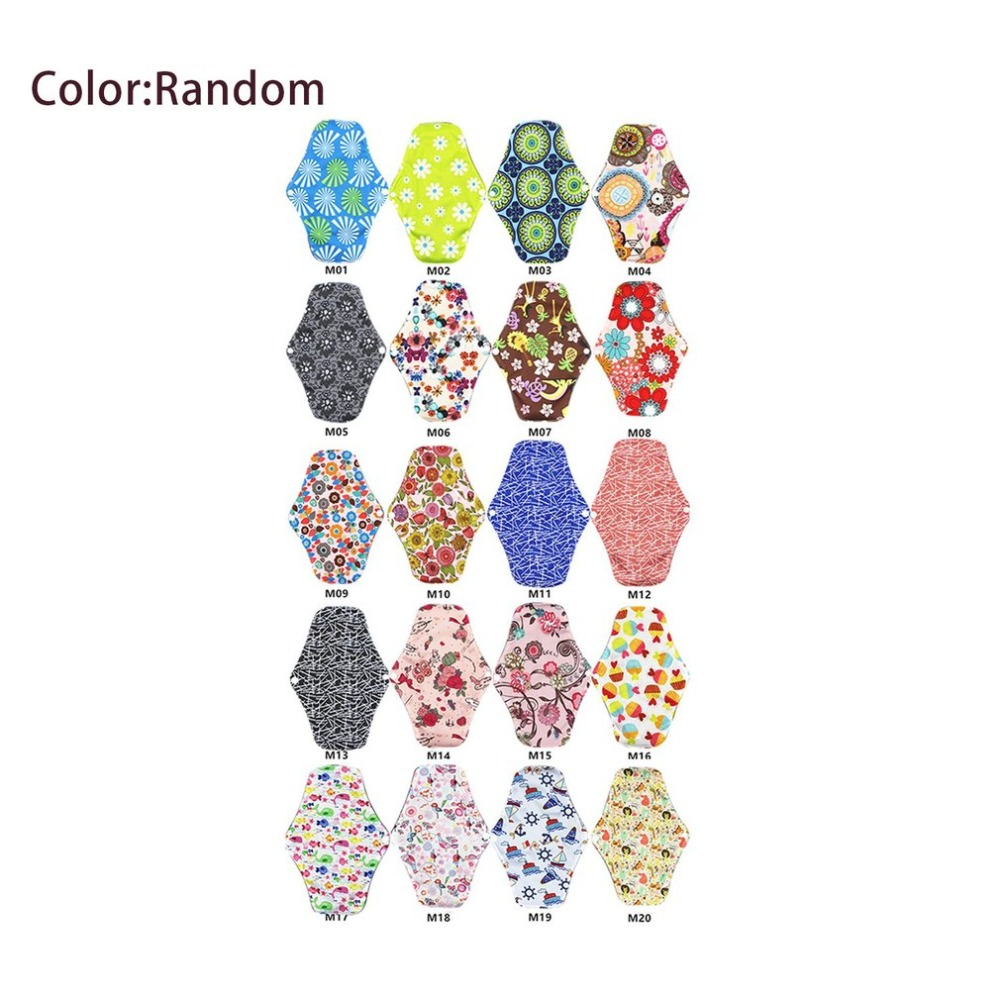 Reusable Washable Menstrual Pad Long Panty Liner Cloth Menstrual Pad Bamboo Cotton Cloth Feminine Hygiene Panty Liner Towel Pads