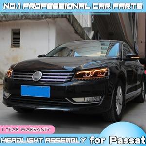 Image 2 - car accessories for VW Passat B7 US Verson Headlight For Passat B7 2012 2016 Headlight DRL D2H dynamic turn signal Hid Bi Xeno