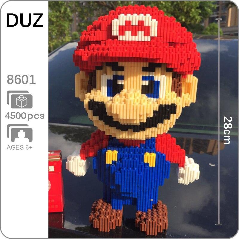 DUZ 8601 Video Spiel Super Mario Big Red Figur 3D Modell 4500 stücke Mini Bausteine Ziegel Spielzeug für Kinder 28cm hoch no Box