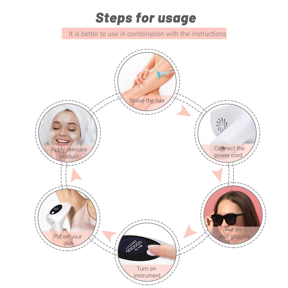 cabelo ipl photon indolor depilador ferramentas permanente