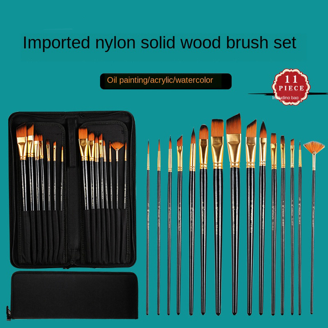 Paint By Numbers Artist 15 Brush Set Beginners Carry Storage Case