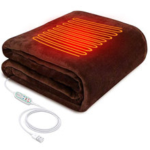 45*80cm USB 5V Electric Heating Shawl Washable 3 Heat Settings With Timing Function Heated Blanket