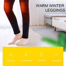 Legging Warm-Pants Usb-Heating-Pant Men Trousers Heated Electric Elastic Adjustable Winter