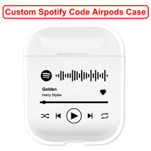 Custom Spotify Code Hard Plastic Case for Air Pods Case for Bluetooth Wireless Airpod Cover DIY Air Pods Apple Funda Capa