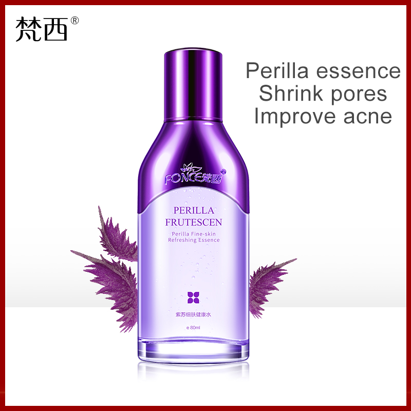 Fonce Korea Perilla Astringent Pore Toner Soothing Repair To Close Acne Control Oil Moisturizing Makeup Water Whitening Light