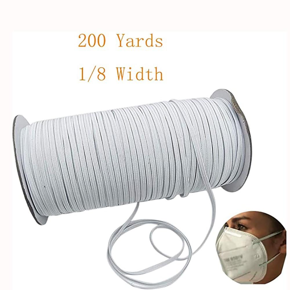 1/4 inch Elastic Mask Band Rope Mask Rubber Band Tape Mask Ear Hanging Rope Round Elastic Band DIY Crafts