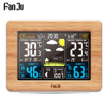 FanJu Alarm Clock Digital Watch Temperature Humidity Sensor Barometer Forecast Weather Station Electronic Desk Table Clocks(China)