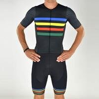 Pro team lycra aero skin suit custom logo cycling Skinsuit running ropa ciclismo bicicleta body wear triatlon triathlon swimwear