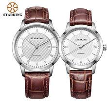 Часы starking для влюбленных из натуральной кожи мужские и женские