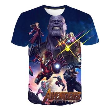 2019 Summer Kids T shirt Boys Clothes Infinity War Superhero Thanos Hulk Tshirts For Girls Children Clothing Ninjago 1