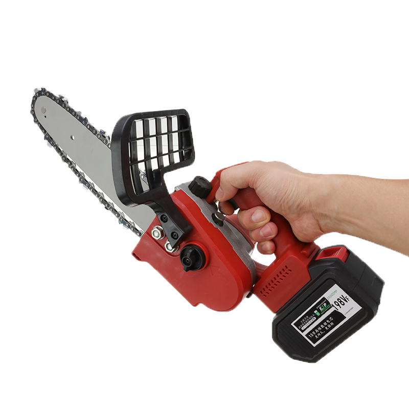88V/198V Portable Rechargeable Lithium Saw 1200W Cordless Chain Saw Woodworking Electric Chain Saw Wood Cutter Garden Tools