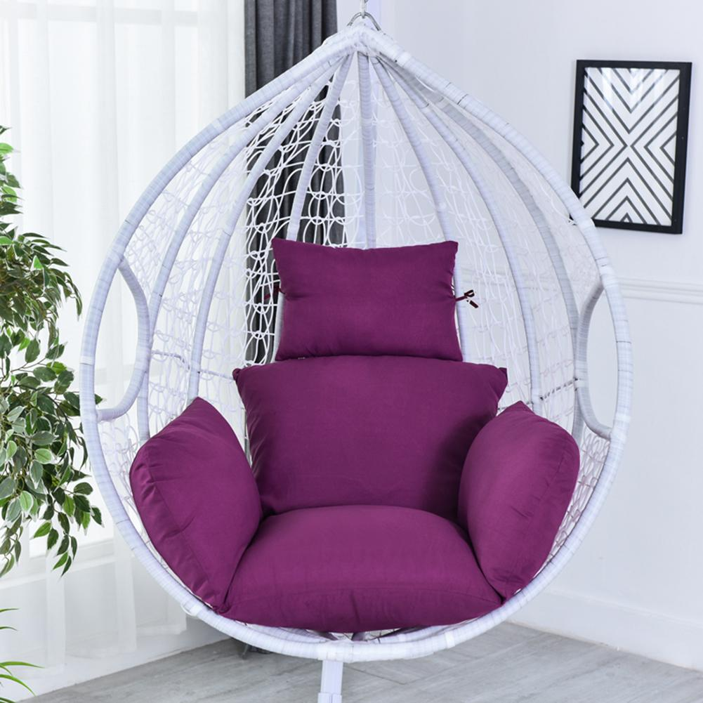 No Stuffing Hanging Basket Chair Cushions Egg Hammock Thick Nest Back Pillow For Indoor Outdoor Patio Yard Garden Beach Office