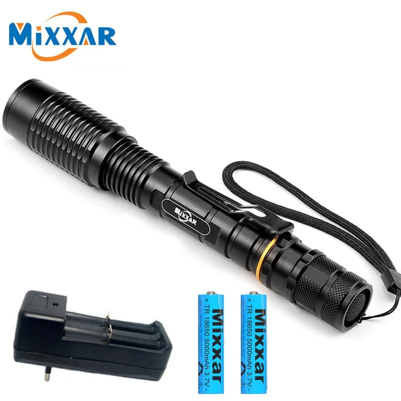 Zk20 t6 zoomable led lanterna 5-mode dropshipping tocha luz adequado 2x5000 mah baterias lanternas telescópicas