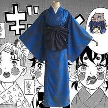 Аниме-комикс, убийца демона, Kimetsu no Yaiba, костюмы для косплея, хашибира, Inosuke, косплей, костюм, японское кимоно, Униформа, одежда