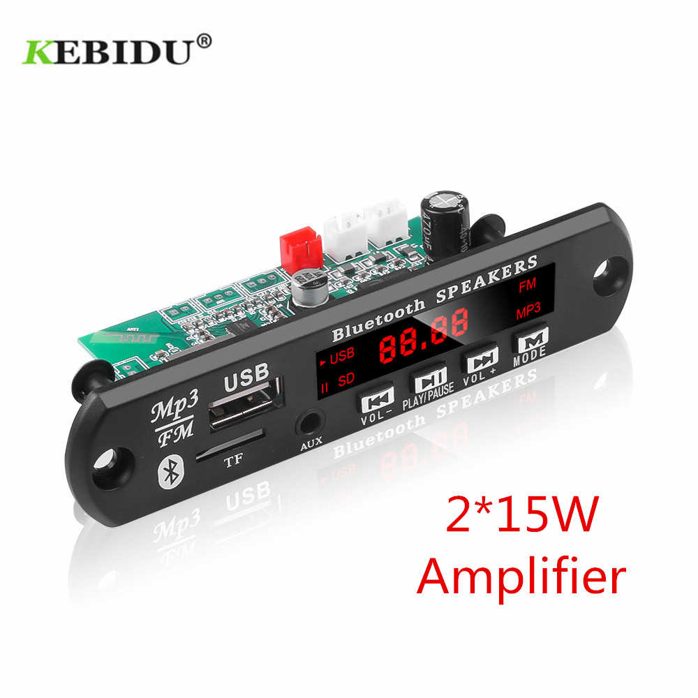 KEBIDU Car Audio USB TF di FM Radio Modulo Senza Fili di Bluetooth 12V MP3 WMA Scheda di Decodifica Supporto 2*15/25W Amplificatore con Telecomando