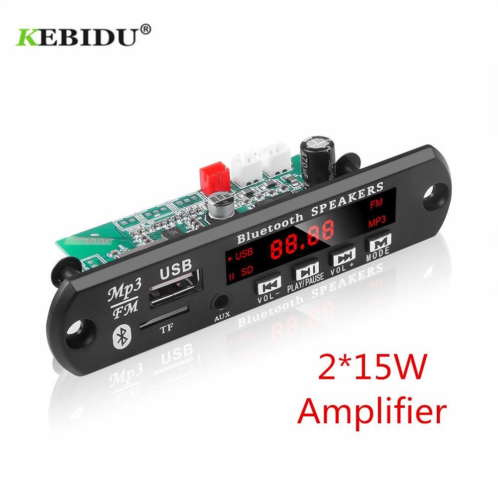 KEBIDU автомобильный аудио USB TF FM радио модуль беспроводной Bluetooth 12 в MP3 WMA декодер плата поддержка 2*15/25 Вт усилитель с пультом дистанционного уп...