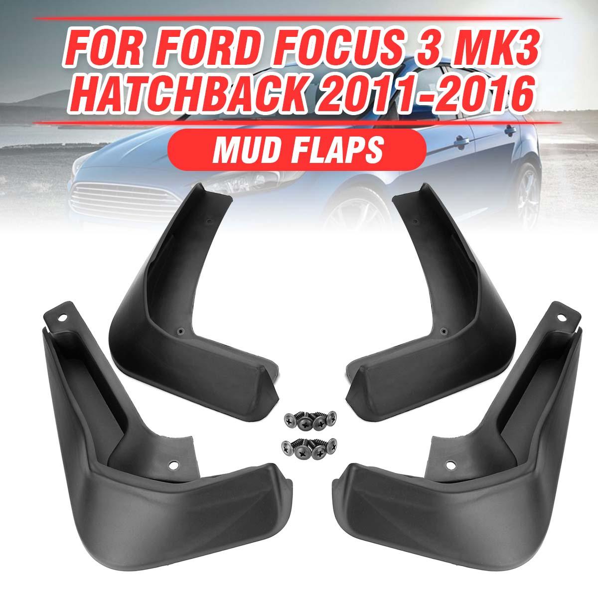รถ Mudguards Mudflaps Splash Guards สำหรับ Fender อุปกรณ์เสริมสำหรับ Ford/Focus 3 MK3 Hatchback 2011-2018