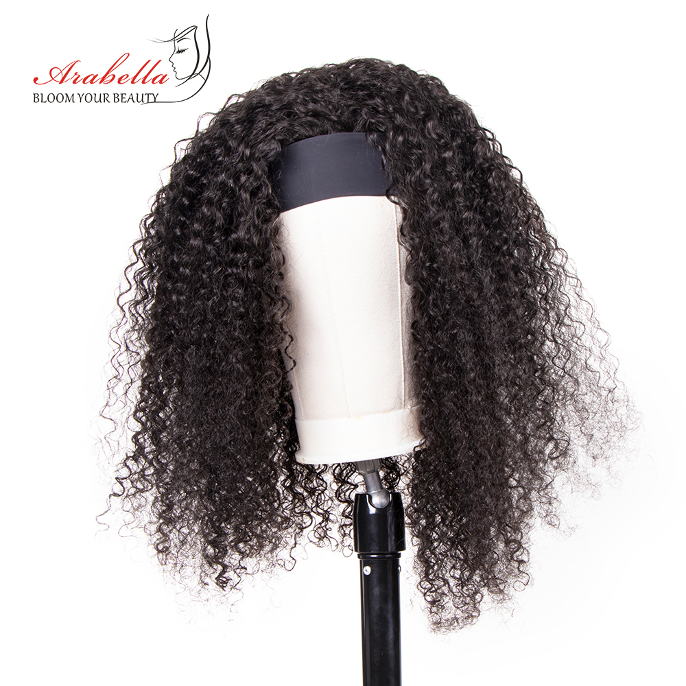 Jerry Curly  Wigs With Headband  Hair Full Machine Made Wig  Easy to Install ARABELLA Glueless Wig 4