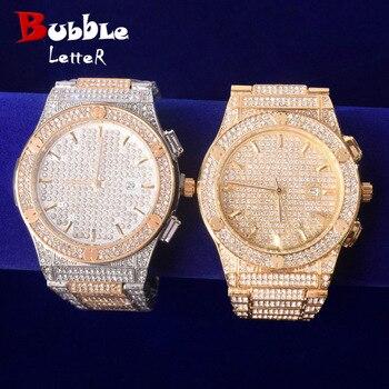Square Men's watch Big Dial Military Quartz Clock Luxury Rhinestone Business Waterproof wrist watches Relogio Masculino