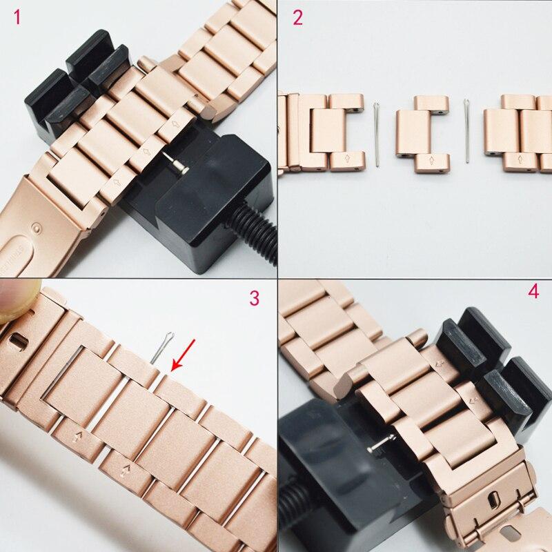 Pulseira para Apple Link Band 38mm 44mm 42mm Iver Pulseira 5 4 3 2 1 Aço Inoxidável Cerâmica Acessórios Ver 40mm –