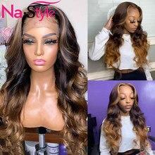 Pelucas de cabello humano de encaje completo, peluca de cabello humano de color 360 con encaje Frontal ondulado 13x6, pelucas de cabello humano rubio miel con encaje Frontal ombré