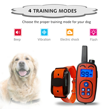 Dog-Training-Collar Bark-Stop-Collars Remote-Control Electric Waterproof Rechargeable
