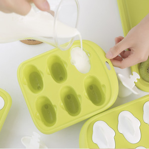 Image 5 - Youpin 6 Grids Food Grade Icy Tray Cute Whale Shape Ice Cream Popsicle Mold Creative Small Fruit Ice Cube Maker For Kitchen