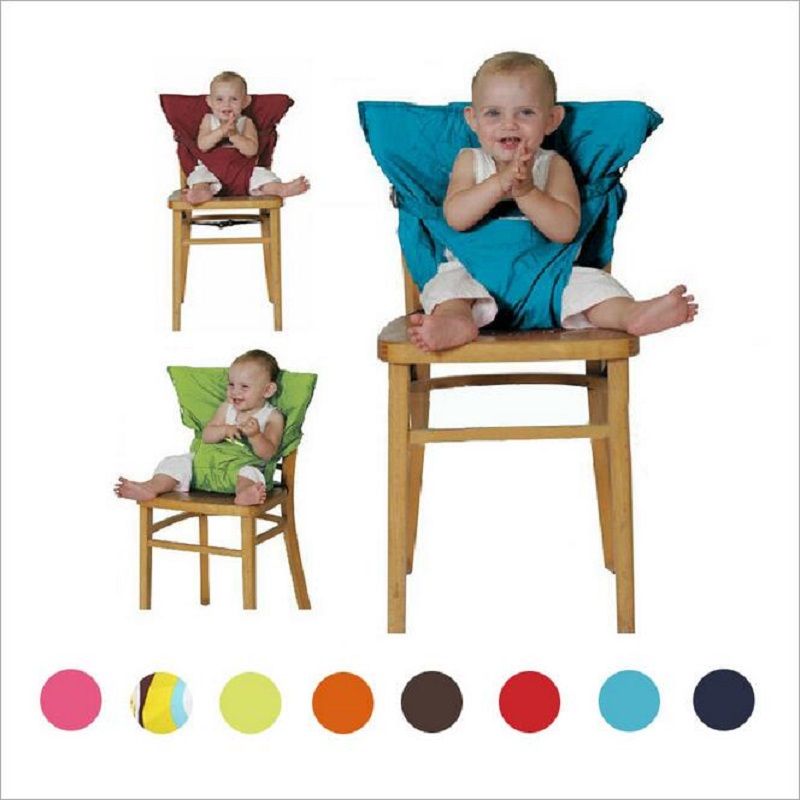 Kids Chair Baby Chair Travel Foldable Washable Infant Dining High Dinning Cover Seat Safety Belt Feeding Baby Care Accessories(China)