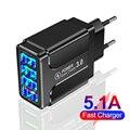 45W Quick Charge 3,0 USB Ladegerät Für iPhone 12 XS 8 Samsung S21 Hinweis 20 Huawei Xiaomi 11 Mobile telefon Ladegerät EU UK Stecker Adapte