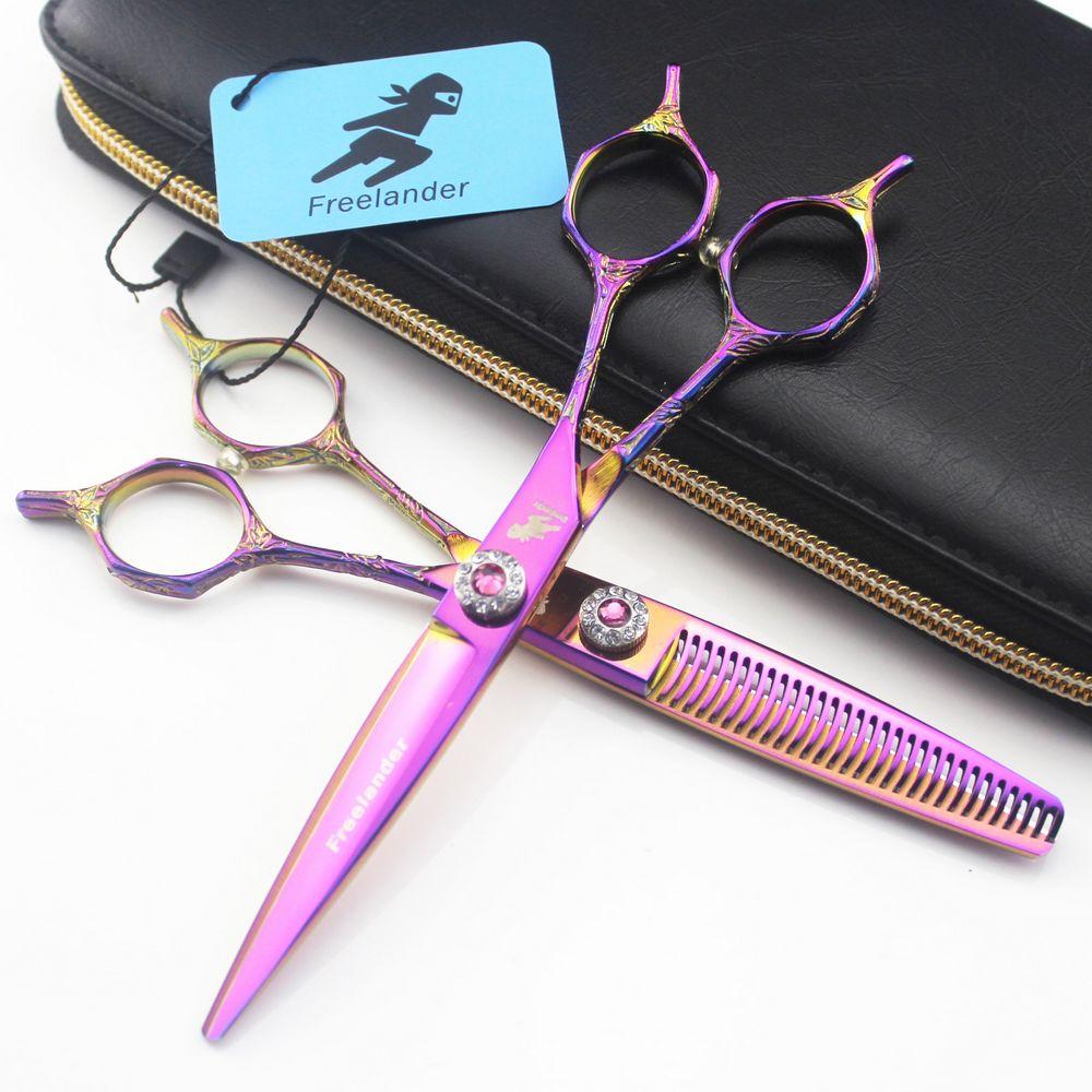 Hair Scissors 6 inch Professional 440C Japanese Steel Hairdressing Scissor Barbershop Cutting Salon Thinning Shears