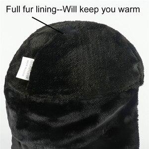Image 5 - ฤดูหนาวหมวกผู้หญิงหมวกผ้าพันคอ Anti Haze รัสเซีย Ushanka ความร้อนหมวก Trapper Trooper Earflap สกีหิมะ balaclava