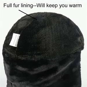 Image 5 - חורף כובע גברים נשים מפציץ כובע עם צעיף נגד אובך רוסית Ushanka תרמית הצייד כובע טרופר Earflap שלג סקי גרב