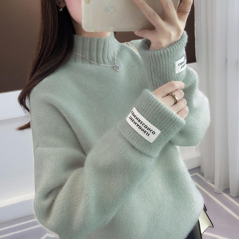 SURMIITRO Knitted Warm Sweater Female For Autumn winter 19 Ladies Long Sleeve Women Turtleneck Tricot Pullover Blue Jumper 13