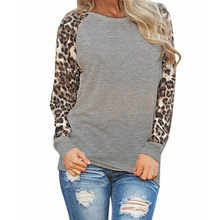 Womens Causal Autumn Winter Leopard Tops Long Sleeve Fashion Ladies T-Shirt Oversize Tops 5 Colors футболка женская#X(China)
