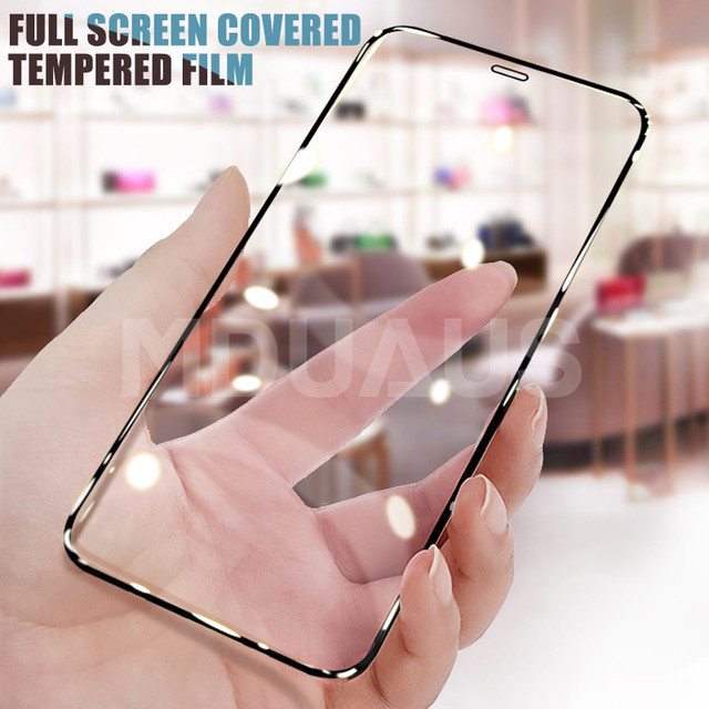 9999D Full Cover Glass For iPhone 11 12 Pro XS Max X XR 12 mini Screen Protector iPhone 8 7 6 6S Plus Tempered Glass Film Case 2