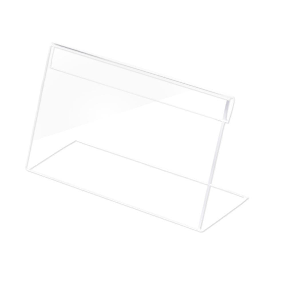 1.5mm Clear Plastic Desk Sign Label Frame Price Tag Display Paper Card Holders Acrylic Label Holder Stand Frame 6pcs