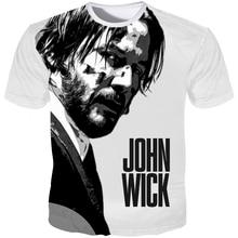 YOUTHUP New  Johnwick 3D Printed T-shirt Men Short Sleeves tshirt Keanu Reeves Cool Movie T Shirt Male Streetwear 5XL