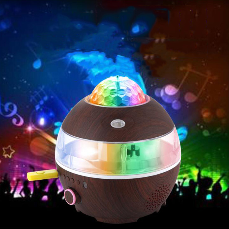 Disco Ball Light Bluetooth Music Speaker LED Party Light DJ Sound Control Rotating Light Crystal Stage Light Audio Humidifier