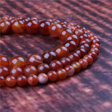 Fashion jewelry 4/6/8/10/12mm Red Striped Agate, suitable for making jewelry DIY bracelet necklace