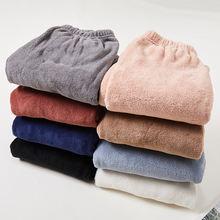Новые осенне зимние теплые брюки плюшевые верхняя одежда пижамные