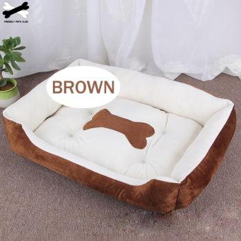 Bone Pet Bed Warm Pet Products For Small Medium Large Dog Soft Pet Bed For Dogs Washable House For Cat Puppy Cotton Kennel Mat 1