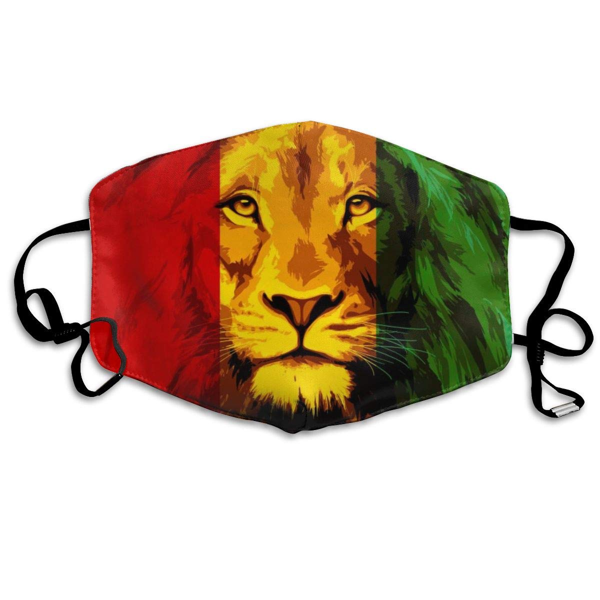 NiYoung Breathable Anti Dust Mouth Mask With Adjustable Earloop, Warm Windproof Reusable Washable Half Face Mask, Reggae Rasta