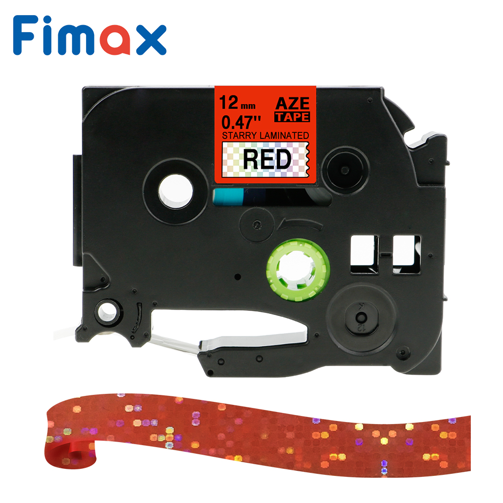Fimax 1 Pcs Pattern Tape TZ231 Tze-231 12mm label tape compatible for <font><b>Brother</b></font> p-touch printer Tze-335 Tze335 TZe131 For <font><b>PT</b></font>-<font><b>D210</b></font> image