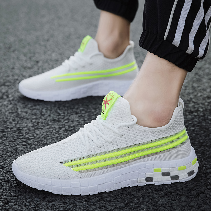 2020 Mesh Men Casual Shoes Breathable Comfortable Lightweight Lace-up Footwear Walking Sneakers Male Running Sport Shoes Boy