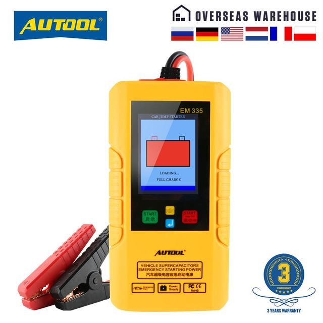 Автомобильное пусковое устройство Autool EM335 без батареи с ультрааккумулятором, неограниченное использование, 12 В, Автомобильный аварийный аккумулятор, мгновенная зарядка