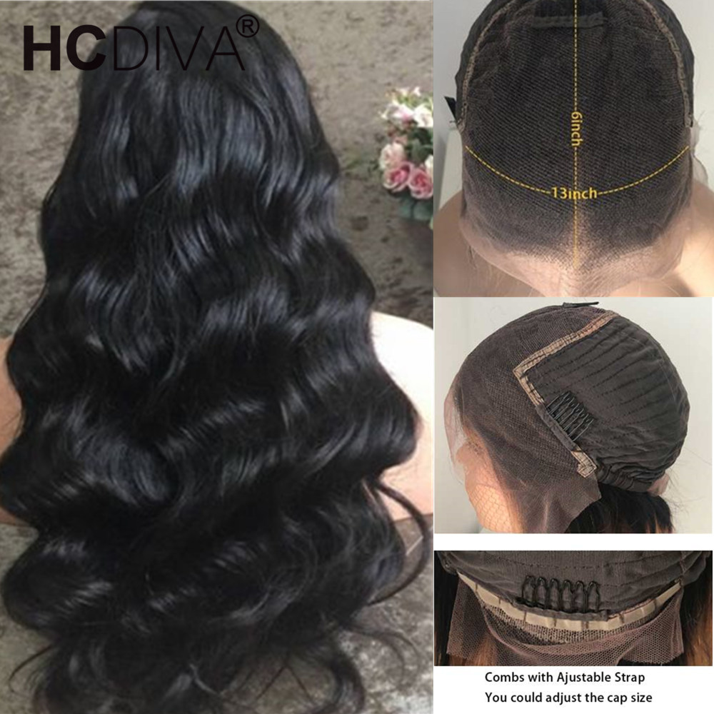 13*6 Lace Front Human Hair Wig Pre Plucked With Baby Hair 150% Remy Brazilian Body Wave Wig 13*4 Lace Front Wig For Black Women