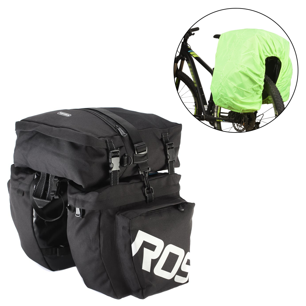 Roswheel 30l Cycling Bicycle Double Side Rear Rack Tail Seat Bag Pannier Best